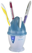 iTouchless - Home UV Toothbrush Sanitizer and Holder - White/Blue