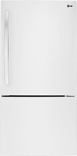 LG - 23.8 Cu. Ft. Bottom-Freezer Refrigerator - White