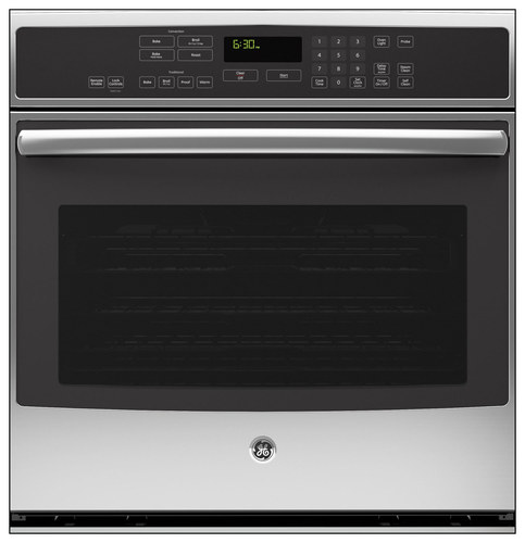 GE - Profile Series 30 Built-In Single Electric Convection Wall Oven - Stainless Steel