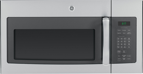 GE - 1.7 Cu. Ft. Over-the-Range Microwave - Stainless Steel with Gray Accents