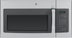 GE - 1.7 Cu. Ft. Over-the-Range Microwave - Stainless-Steel with Gray Accents