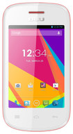 Blu - Dash JR TV Cell Phone (Unlocked) - White/Pink