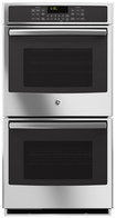 """GE - Profile Series 27"""" Built-In Double Electric Convection Wall Oven - Stainless-Steel"""