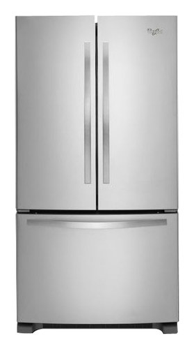 Whirlpool - 21.7 Cu. Ft. French Door Refrigerator - Stainless Steel