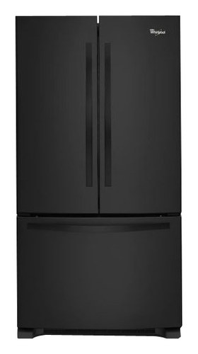 Whirlpool - 21.7 Cu. Ft. French Door Refrigerator - Black
