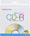 Memorex - 52x CD-R Discs (10-Pack)