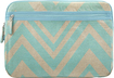 Studio C - Chevron and On Laptop Sleeve - Linen/Aqua