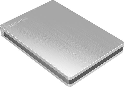 Toshiba - Canvio Slim II 1TB External USB 3.0 Portable Hard Drive - Silver