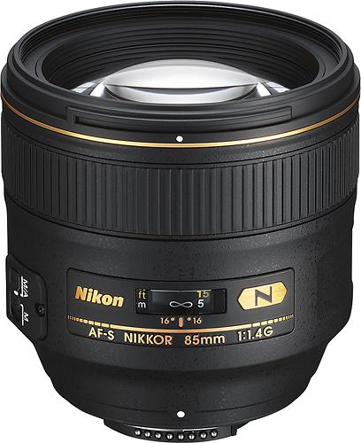 Nikon - AF-S NIKKOR 85mm f/1.4G Portrait Lens for Select Nikon Cameras - Black