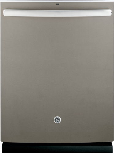 "GE - 24"" Top Control Tall Tub Built-In Dishwasher with Stainless Steel Tub - Slate"