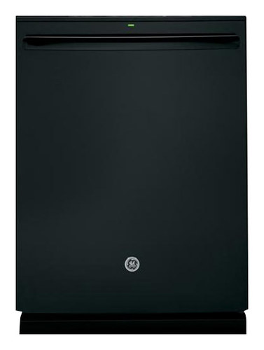 "GE - 24"" Top Control Tall Tub Built-In Dishwasher with Stainless Steel Tub - Black"