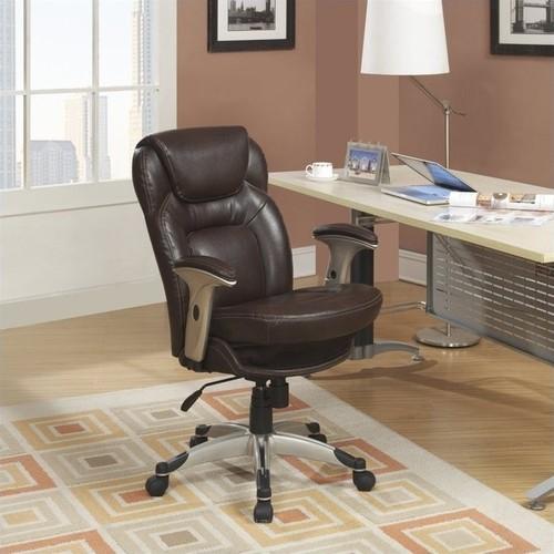 Serta - Back in Motion Health & Wellness Task Chair - Frye Chocolate