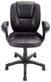 Serta - Low-Back Manager Office Chair - Black/Silver