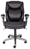 Serta - AIR Health & Wellness Mid-Back Manager's Chair - Black