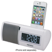 Jensen - Docking Digital AM/FM Dual-Alarm Clock Radio - White
