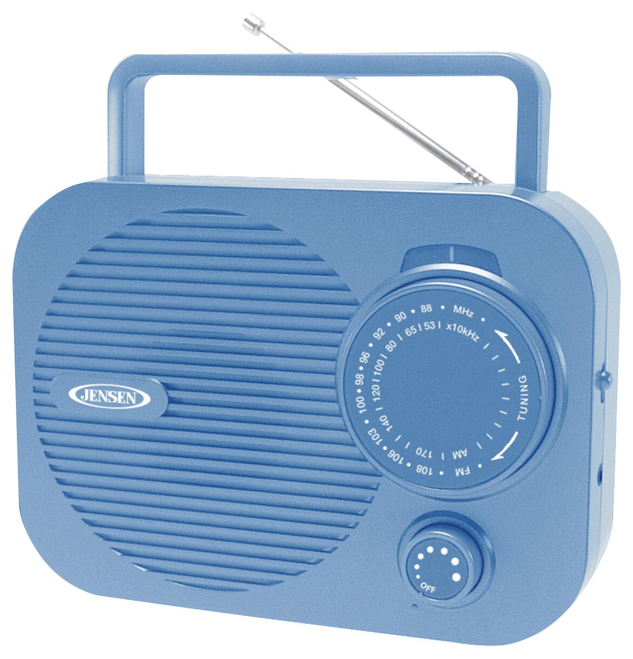 Jensen - AM/FM Radio - Blue