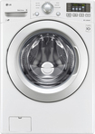 LG - 4.3 Cu. Ft. 7-Cycle Ultralarge Capacity High-Efficiency Smart Front-Loading Washer - White