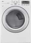 LG - 7.4 Cu. Ft. 8-Cycle Ultralarge-Capacity Smart Gas Dryer - White