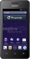 MetroPCS - Valiant No-Contract Cell Phone - Black/Blue