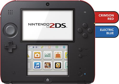 Nintendo - 2DS - Crimson Red