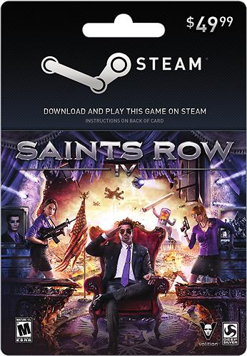 Valve - Saints Row 4 Steam Wallet Card ($49.99) - Multicolor