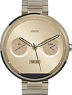 Motorola - Moto 360 Smart Watch for Select Android Devices -18mm band - Champagne