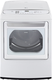 LG - EasyLoad 7.3 Cu. Ft. 12-Cycle Ultralarge-Capacity Steam Smart Electric Dryer - White