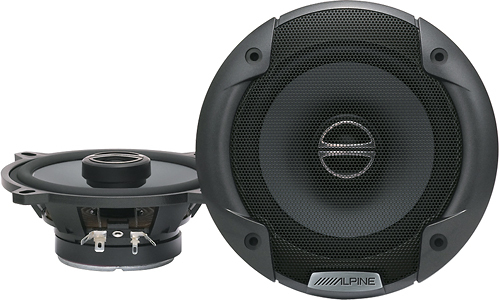 Alpine - 5-1/4 2-Way Car Speakers with Polypropylene Cones (Pair) - Black