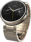Motorola - Moto 360 23mm Smartwatch for Select Android Devices - Champagne