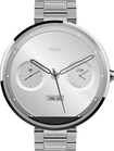 Motorola - Moto 360 18mm Smartwatch for Select Android Devices - Natural Metal