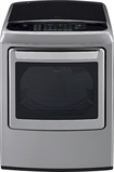 LG - EasyLoad 7.3 Cu. Ft. 12-Cycle Ultralarge-Capacity Steam Smart Gas Dryer - Graphite Steel