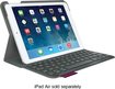 Logitech - Ultrathin Portfolio Keyboard Case for Apple® iPad® Air - Veil Gray