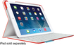 Logitech - FabricSkin Portfolio Keyboard Case for Apple® iPad® Air - Mars Red Orange