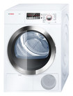 Bosch - Axxis Plus 4.0 Cu. Ft. 15-Cycle Large-Capacity Electric Dryer - White/Chrome