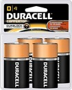 Duracell - D Batteries (4-Pack)
