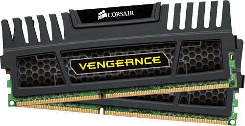 Corsair - 8GB DDR3 Sdram Memory Module - Black