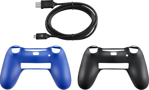 Rocketfish™ - DualShock 4 Controller Kit - Blue/Black