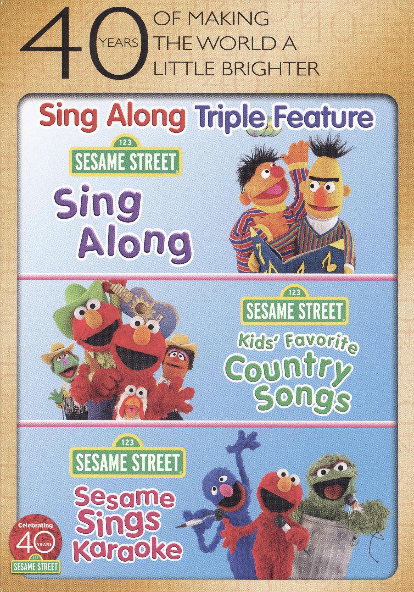Sesame Street: Sing Along/kids' Favorite Country Songs/sesame Sings Karaoke [3 Discs] (dvd)