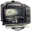 Elite Platinum - 0.8 Cu. Ft. 6-slice Toaster Oven Broiler - Gray/black 1857405