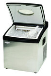 """Mr. Freeze - 12"""" 35-Lb. Freestanding Icemaker - Stainless-Steel"""
