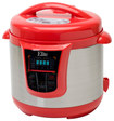 Elite Platinum - 8-Quart Pressure Cooker - Red