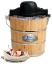 Elite - 4-quart Old-fashioned Ice Cream Maker - Brown 1857758