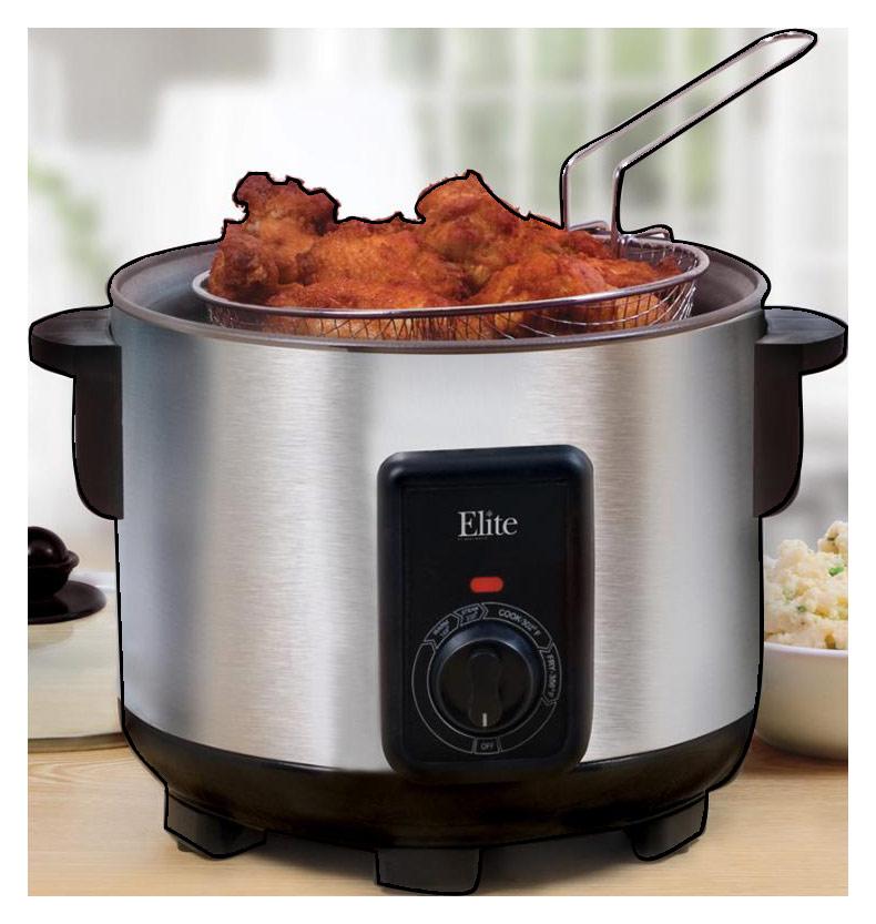Elite Cuisine - 5-Quart Multifunction Cooker - Stainless