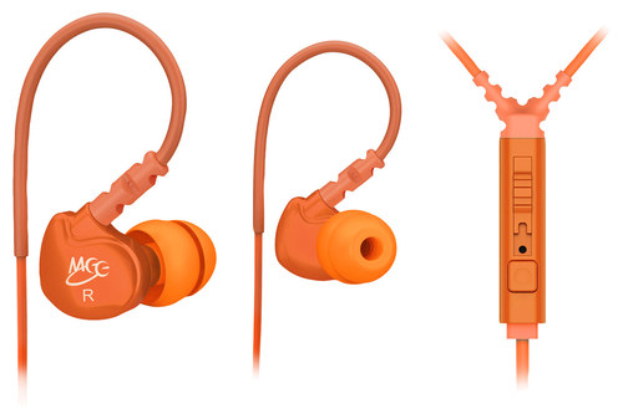 MEElectronics - Sport-Fi Earbud Headphones - Orange