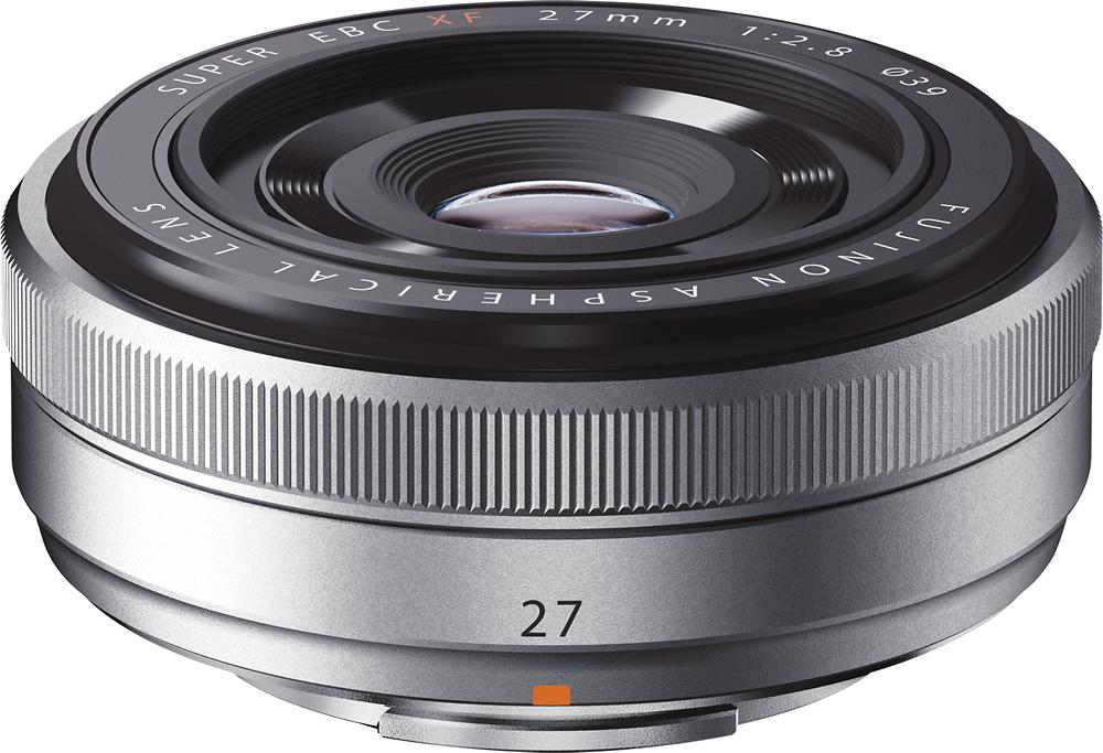 Fujifilm - FUJINON XF 27mm f/2.8 Prime Lens for Fujifilm X-Pro 1, X-E1 and X-M1 Cameras - Silver