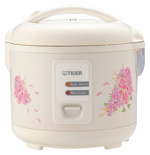 Tiger - 10-Cup Rice Cooker - White