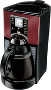 Mr. Coffee - 12-Cup Coffeemaker - Black/Red