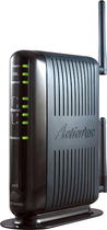 Actiontec - 4-Port Ethernet Broadband Router with Wireless-N - Black