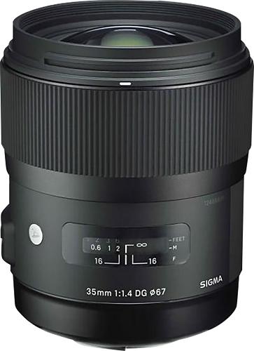 Sigma - 35mm f/1.4 DG HSM Art Standard Lens for Canon - Black