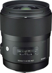 Sigma - 35mm f/1.4 DG HSM Standard Lens for Select Canon Digital Cameras - Black